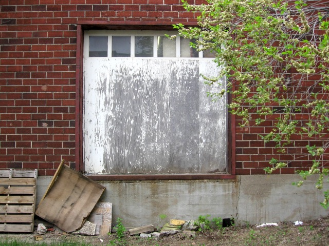 White Loading Dock And Tree